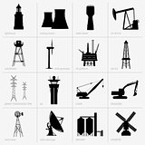 Industry equipment icons