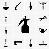 Garden tool icons