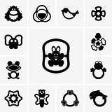 Rattles icons