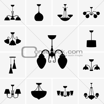 Chandeliers icons
