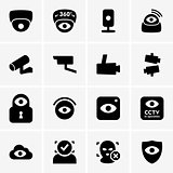 Video surveillance icons