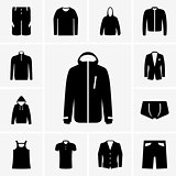 Man clothers icons