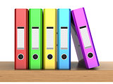 multicolored ring binders
