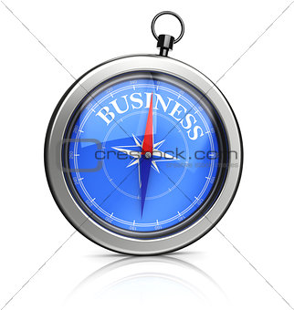 3d compasses pointing to business