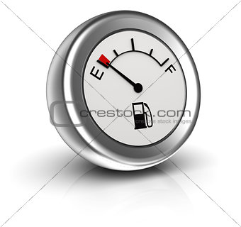 3d icon of fuel gauge