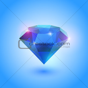 A beautiful sapphire gem