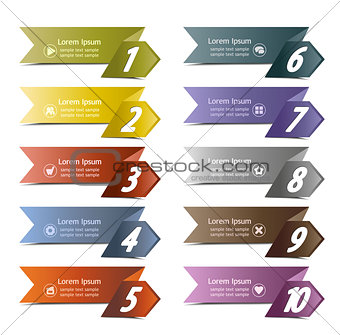 10 number banners