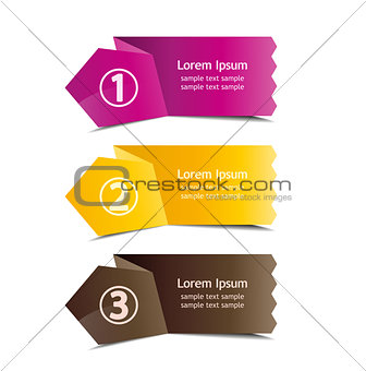 3 number banners