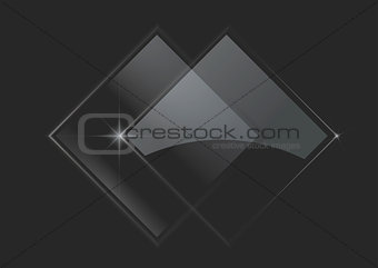 Abstract glowing squares on dark background