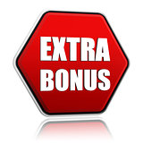 extra bonus in red hexagon banner