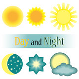 Day and night vector icon