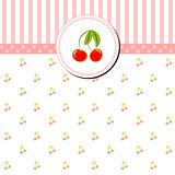 Colorful Cherry Gretting Card