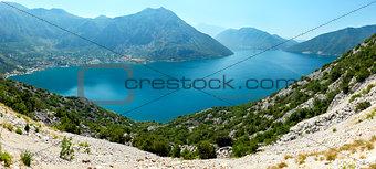 Bay of Kotor summer panorama,  Montenegro