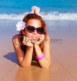 Beautiful female on the beach