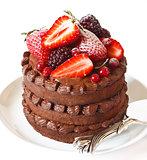 Delicious chocolate cake.
