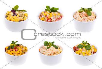 Six salads
