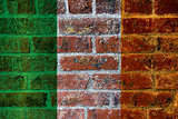 Ireland Flag on Brick Wall