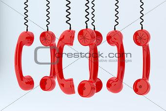 Phone receivers hanging