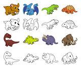 Cartoon Dinosaur Illustrations