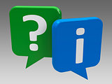 Speech bubbles - question and information