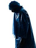 man Tuareg Portrait silhouette