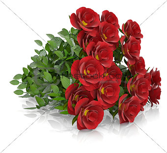 Group of red roses