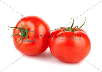 Pair of ripe red tomatoes