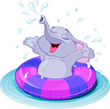 Summer fun elephant