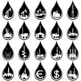 Drops of oil