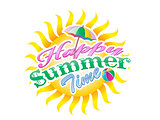 Summer time typography