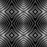 Seamless pattern in op art design. No gradient.