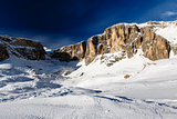 Peak of Vallon on the Skiing Resort of Corvara, Alta Badia, Dolo