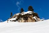 Rocky Mountains on the Ski Resort of Arabba, Dolomites Alps, Ita