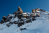Porta Vescovo Peak on the Ski Resort of Arabba, Dolomites Alps,