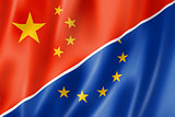 China and Europe flag