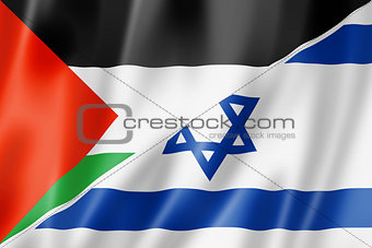 Palestine and Israel flag
