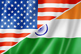 USA and India flag