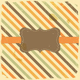 Card Design Vintage Label on Stripe Background