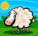sheep farm animal cartoon illustration