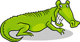 cartoon illustration of crocodile