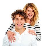 Smiling caucasian couple. Love concept