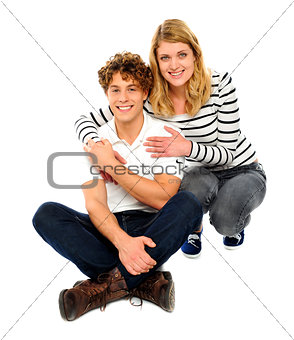 Attractive young loving couple