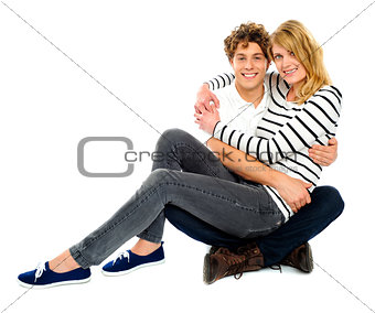 Adorable young love couple