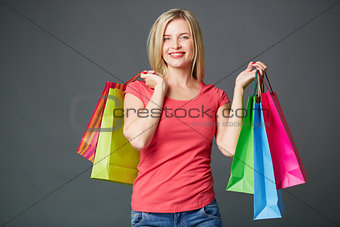 Female after shopping