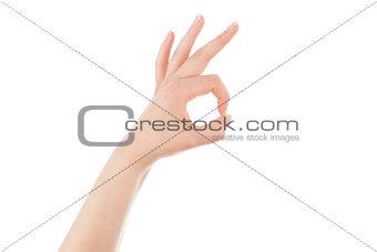 Ok woman hand sign.