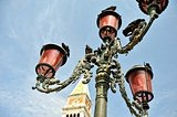 Old streetlight at the St. Mark's, square in Venice.