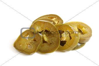 Slices of preserved Jalapeno pepper