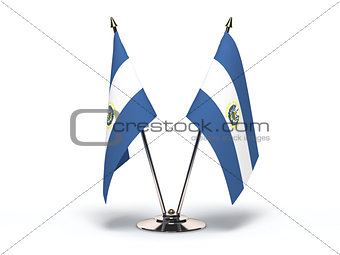 Miniature Flag of El Salvador (Isolated)