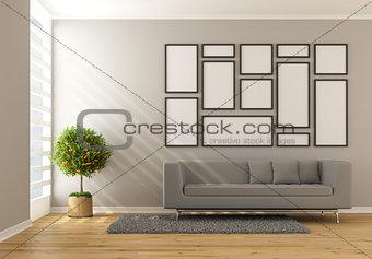 Contemporary minimalist living room