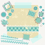 blue scrapbook kit